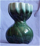 Usa Tall Green Swirl Vase