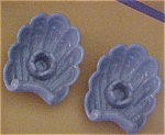 Abingdon Wedgewood Blue Shell Candlesticks