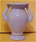 Niloak Soft Blue Double Handle Vase W/ Label