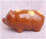 Brush Mccoy Early #080 Pottery Piggy Bank.