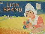 Dutch Girl Metal Biscuit Tin Color Graphics Lion Brand
