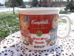 Campbells Kids Soup Mug Boy Girl Sitting Bench Westwood 1999