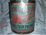 Planters Peanut Tin Antique Advertising Old 1941 Huge