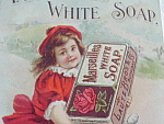Advertising White Soap Ad Girl Cycle Biketin