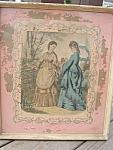 French Fashion Framed Print Chippy Match Pair Paris Antique