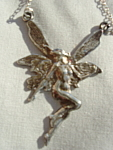 Art Nouveau Fairy Necklace Sterling Silver Mint Rare Wow