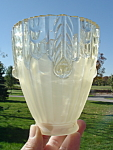 Antique Victorian Lamp Shades Frosted Base Clear Glass Rim