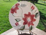 Blue Ridge Dinner Plate 2 Pink Florals Marked