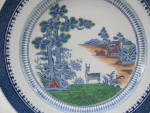 Booths Lowestoft Deer Color Plate England Silcon China