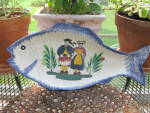 Quimper Fish Platter French Folk Art Hp Mint Large
