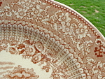 Ridgways Brown Transferware Grecian Cabinet Plate Antique