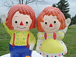 Raggedy Ann Andy Banks Ceramic Mint Condition Japan 1950