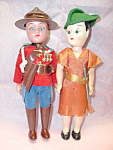 Canadian Mountie Robin Hood Doll Pair Mint Open Shut Eyes
