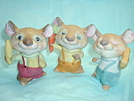 Bisque Mouse Mice Set Of 3 Homco Hp