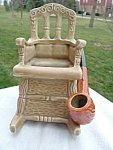 Rocking Chair Planter Gift Lefton Mint