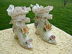 Porcelain Pointed Toe Shoe Capdimonte Victorian Lefton Rare