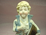 Bisque Boy With Hat Sweet Face Hp Figurine Germany Mint