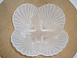 Candy Bowl Frosted Glass Sea Shell Sectional