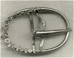 Vintage Silver Plated Belt Buckle