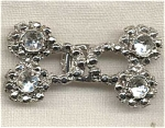 2 Part Rhinestone Small Belt Buckle Fastener