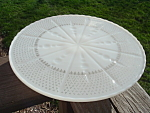 Cremax Milk Custard Glass Pedestal Cake Stand Baroque