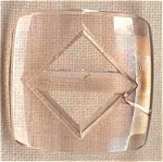 Pink Depression Glass Square Belt Buckle