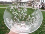 Fostoria Wine Glass Rosepoint Chintz Depression