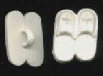 White Plastic Slipper Goofie Realistic Buttons