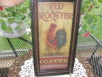 Advertising Sign Red Rooster Coffee