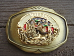 Mallard Belt Buckle Brass Raintree 1978 Usa Stars Stripes