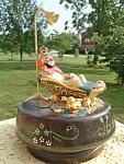 Music Box Clown Bath Gold Tub Judi Original