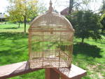 Antique Gold Mesh Birdcage Sparkles Excellent Condition