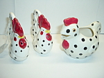 Chicken Rooster Creamer Salt Pepper Shakers Enesco Japan