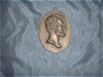Brass Plaque Abraham Lincoln Usa President Vintage Portrait
