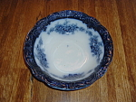 Antique Flow Blue Bowl Victoria Wood & Son England True Blue