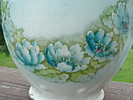 Antique Blue Lilly Pitcher Alba China 1900s Hp