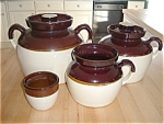 Country Crocks Beanpot Cannister Rrpco Kitchen Pottery