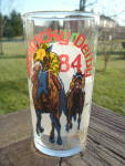 Kentucky Derby Drinking Glass 1984 Official Harry M. Stevens