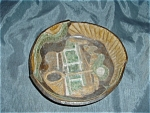 Potters Hand Pottery Tennis Art Bowl Signed Mint