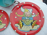 Ohio Tin Art Toy Tea Set Dutch Boy Girl