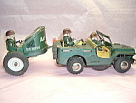 Tin Toy Us Air Force Radar Jeep Side Cart R 1730 Vintage