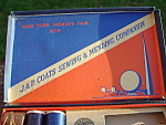 1939 Worlds Fair J P Coats Sewing Kit 17 Spools Excellent