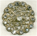 Antique Reticulated Stamped Victorian Button