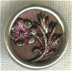 Victorian Floral Tinted Metal Button