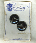 Fr Creations Black Plastic Buttons