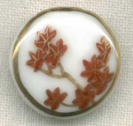 Hand Painted China Button Gold Trim