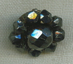 Victorian Hematite Faceted Bead Button