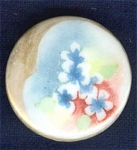Hand Painted China Stud Cuff Button Flowers #3