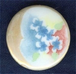 Hand Painted China Stud Cuff Button Flowers #2