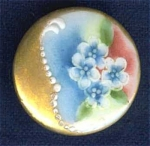 Hand Painted China Stud Cuff Button Flowers #4